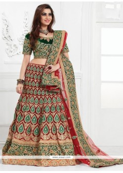 Noble A Line Lehenga Choli For Bridal