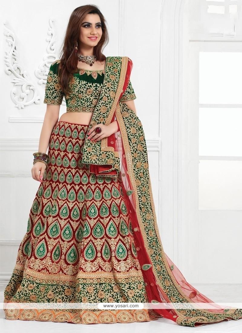 Noble A Line Lehenga Choli For Bridal