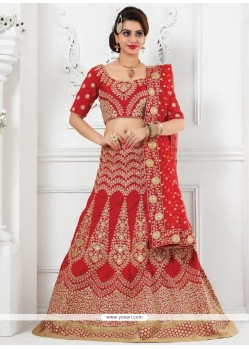 Mystic Net Patch Border Work A Line Lehenga Choli