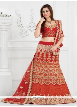 Ravishing Patch Border Work A Line Lehenga Choli