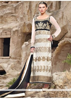 Off White Georgette Ankle Length Pakistani Suit