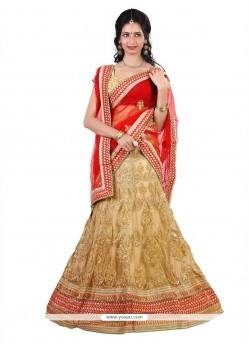 Heavenly Net Resham Work A Line Lehenga Choli