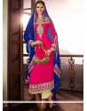 Genius Pink Embroidery Work Pakistani Suit