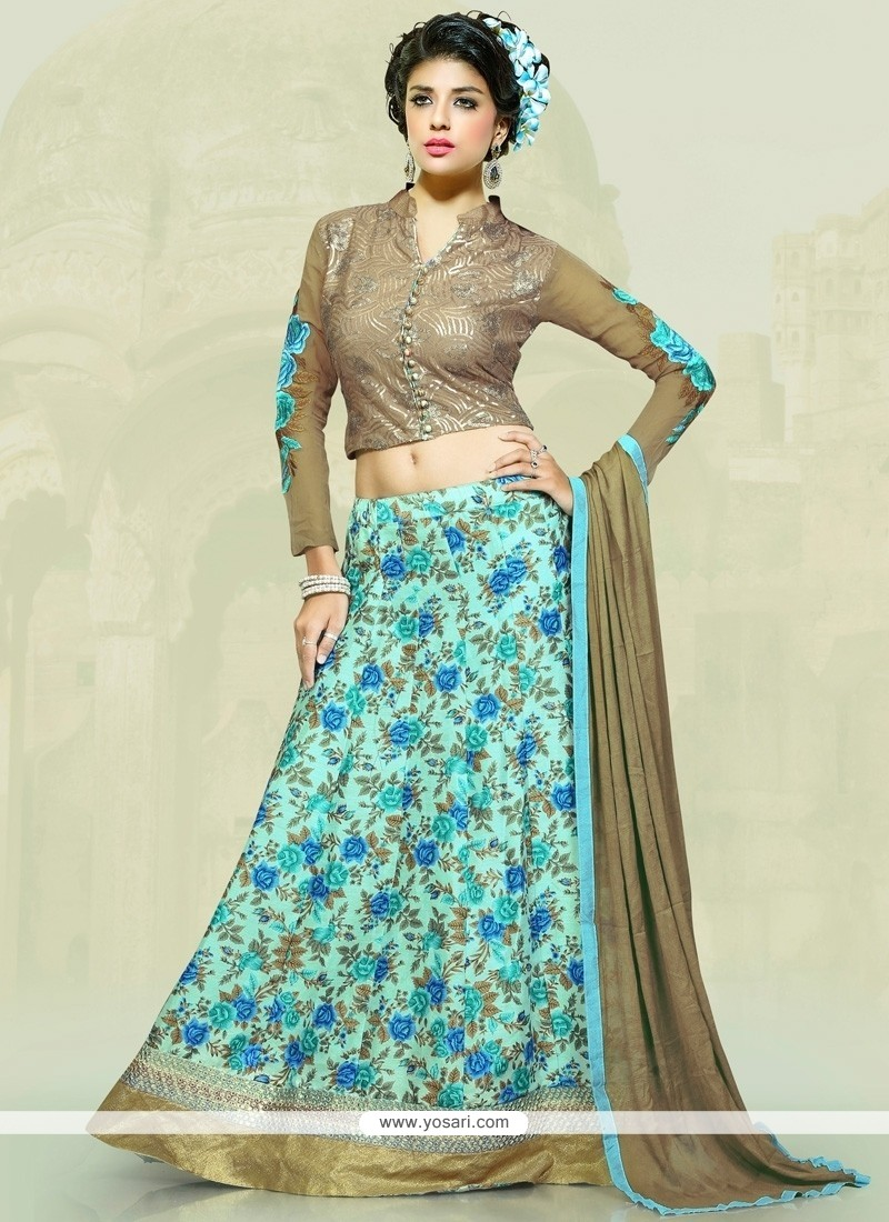 Hypnotic Bhagalpuri Silk Patch Border Work A Line Lehenga Choli