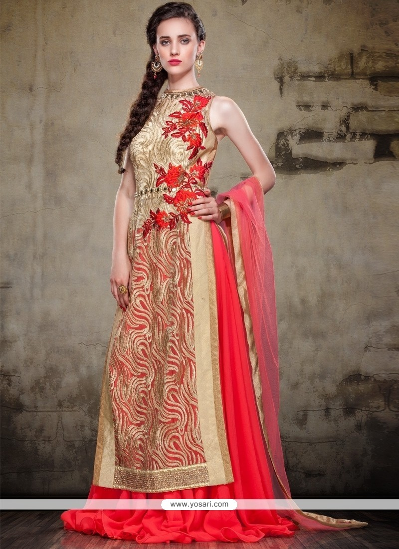 Vivid Net Embroidered Work A Line Lehenga Choli