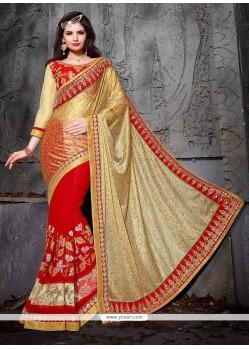 Ravishing Jacquard Patch Border Work Designer Saree