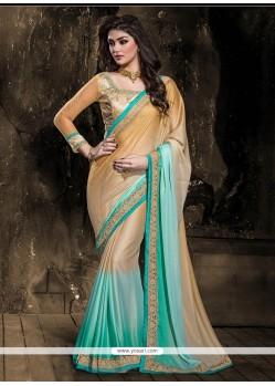Zesty Turquoise Designer Saree