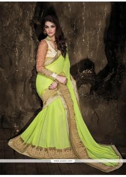 Staggering Sea Green Designer Saree