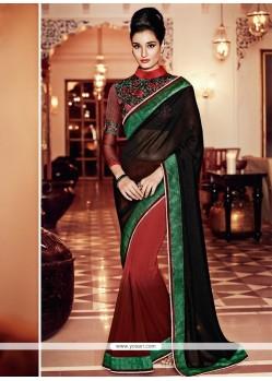 Invigorating Georgette Resham Work Designer Saree