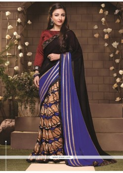 Glorious Lace Work Casual Saree