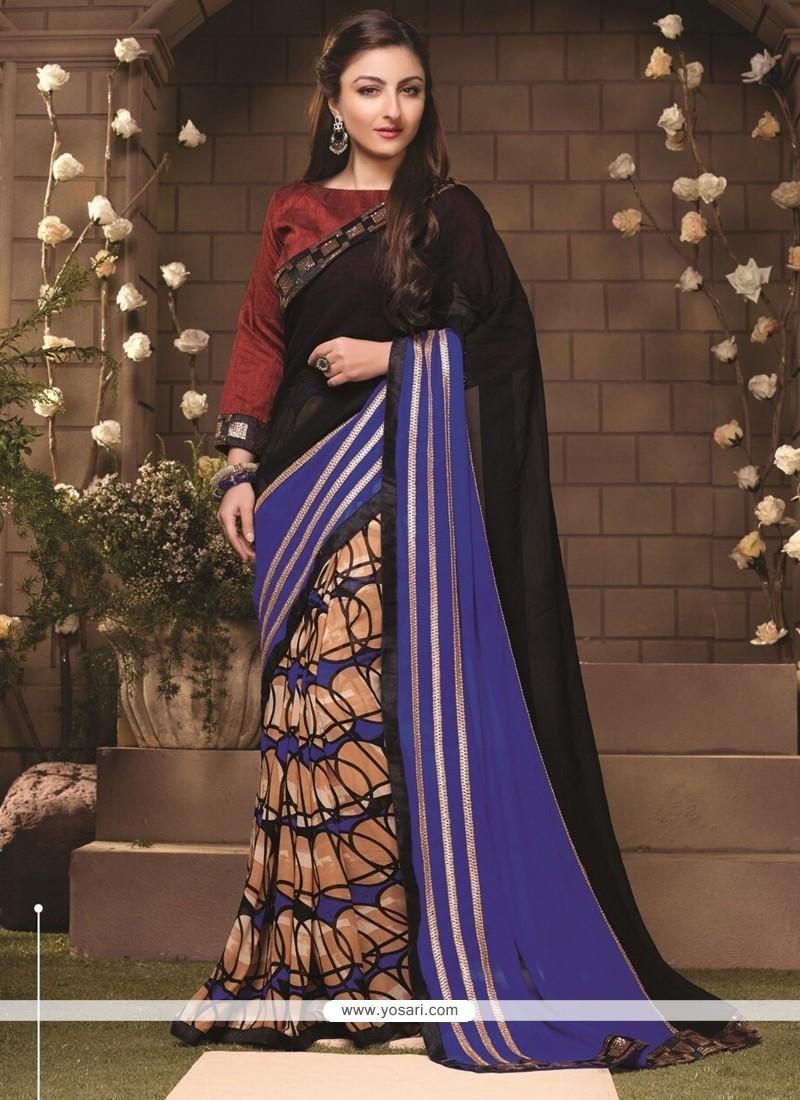 Glorious Lace Work Casual Saree