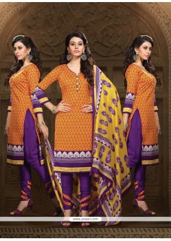 Jazzy Print Work Churidar Designer Suit