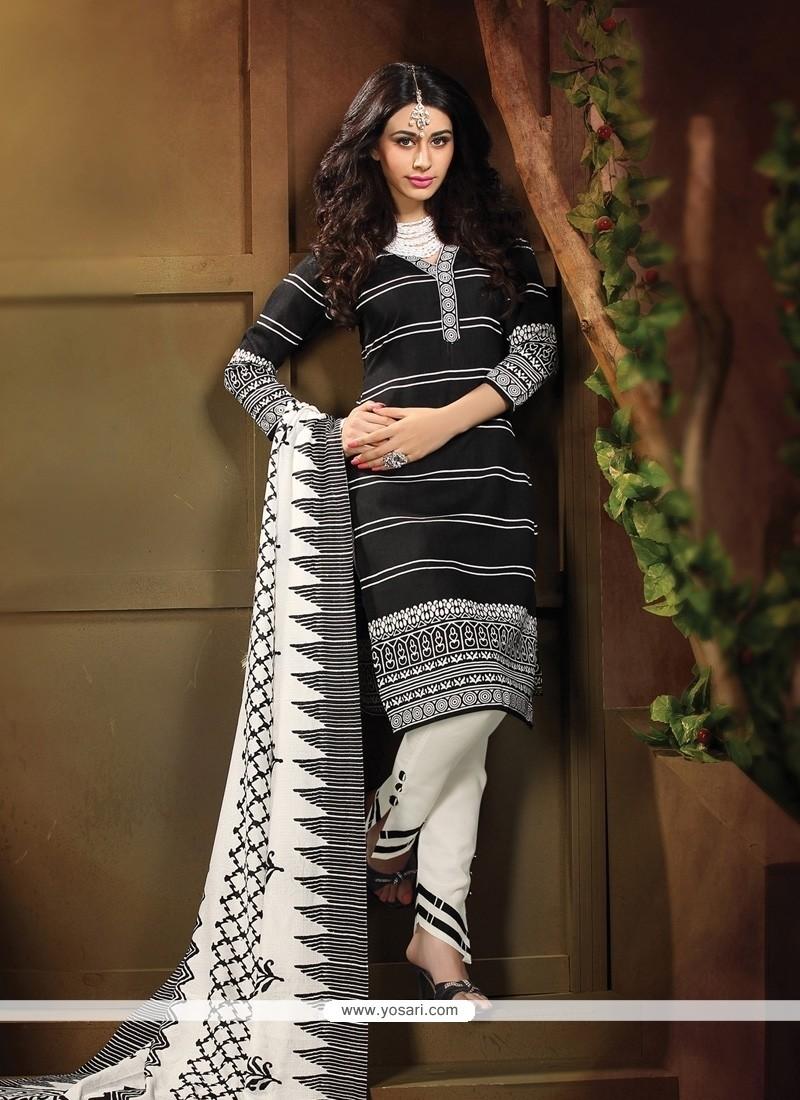 Honourable Lace Work Black Banglori Silk Churidar Designer Suit