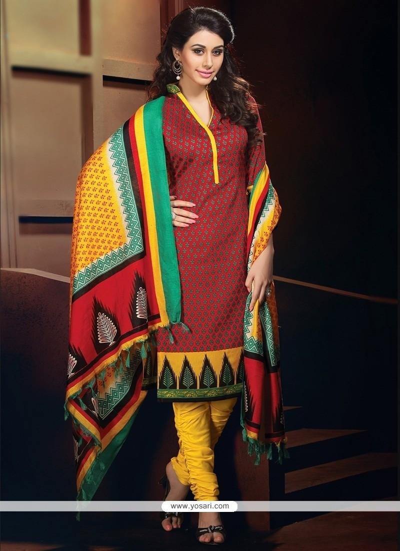 Strange Multi Colour Banglori Silk Churidar Designer Suit