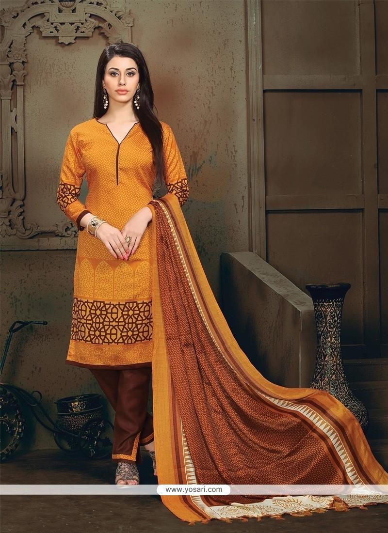 Engrossing Orange Lace Work Banglori Silk Churidar Designer Suit