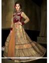 Preferable Net Beige Anarkali Salwar Suit