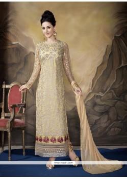 Thrilling Georgette Designer Straight Salwar Suit