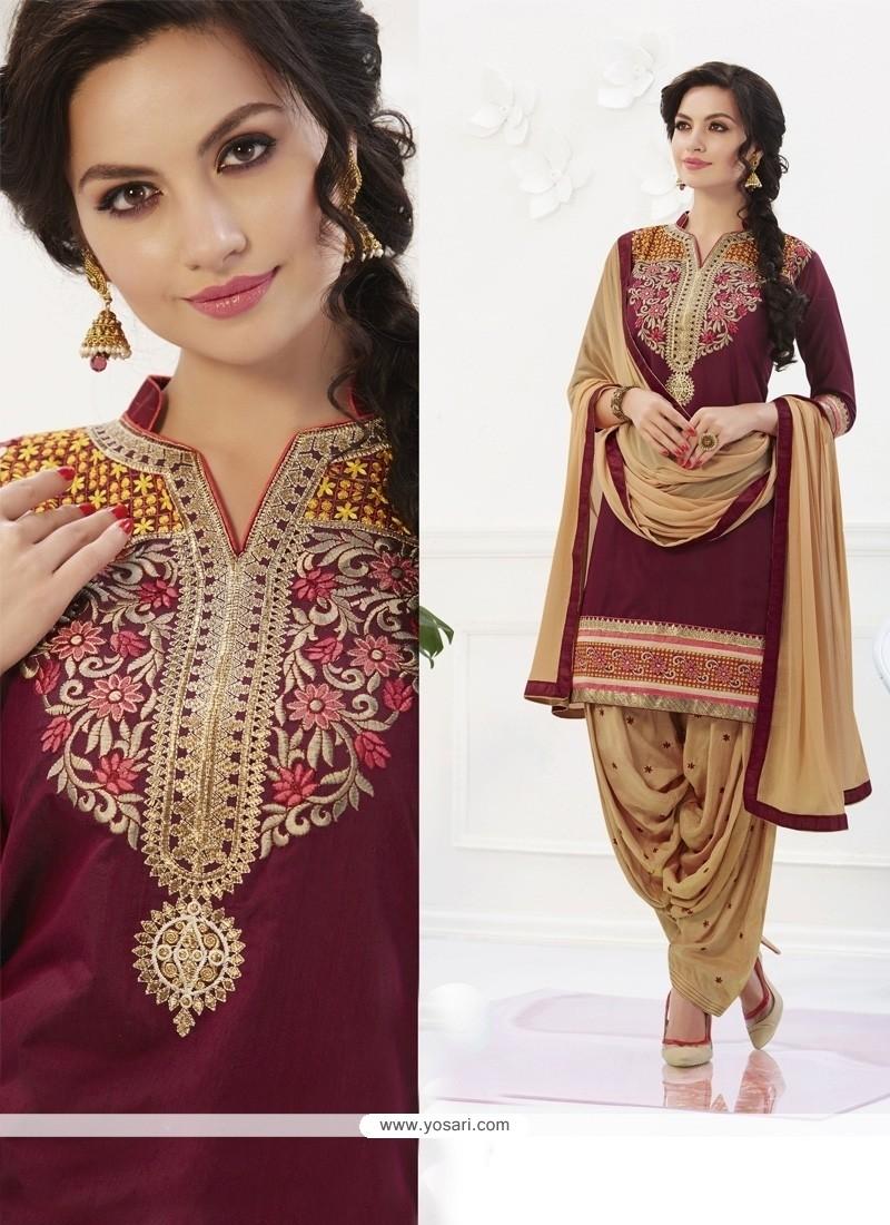 Marvelous Embroidered Work Designer Patiala Salwar Kameez