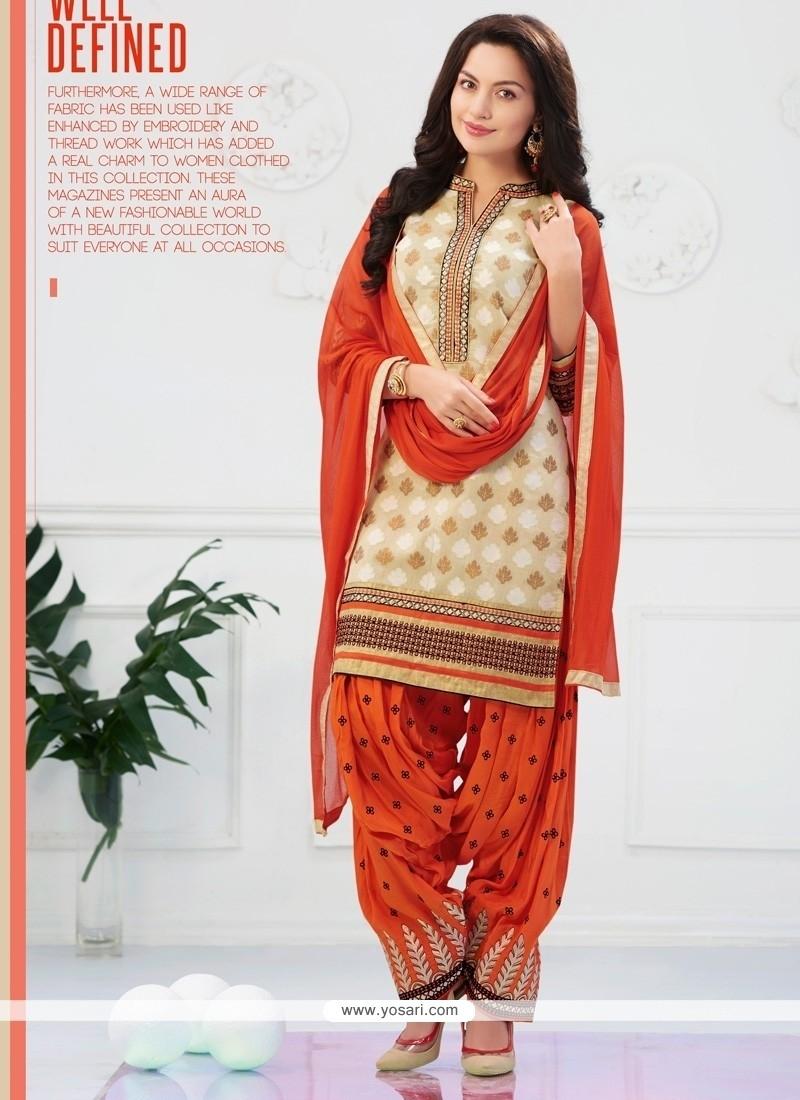 Exceptional Embroidered Work Designer Patiala Salwar Kameez
