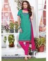 Ravishing Embroidered Work Churidar Suit