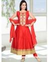 Scintillating Lace Work Anarkali Suit