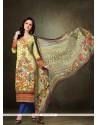 Fetching Pashmina Designer Straight Salwar Kameez
