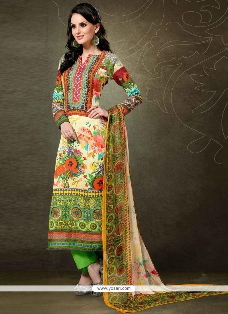 Graceful Pashmina Designer Straight Salwar Kameez
