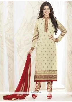 Ayesha Takia Resham Work Designer Straight Salwar Kameez