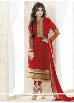 Ayesha Takia Red Designer Straight Salwar Kameez