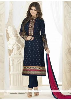 Ayesha Takia Blue Designer Straight Salwar Suit