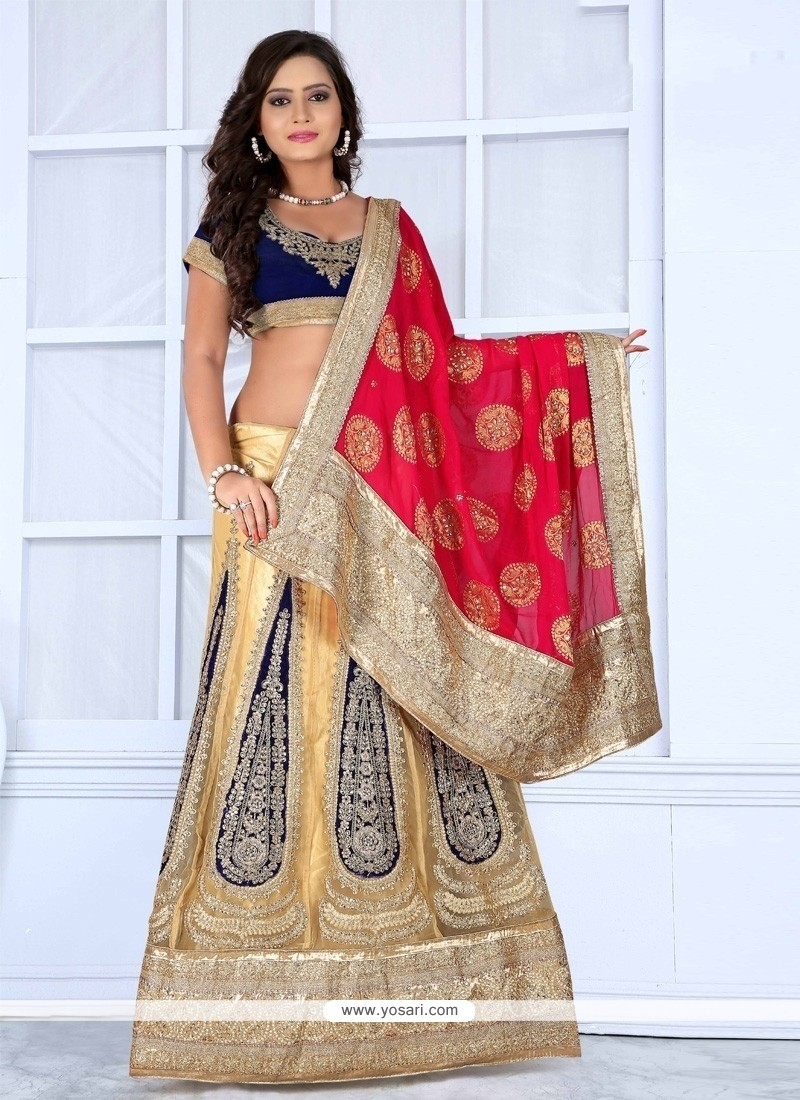 Sunshine Viscose Zari Work Designer Lehenga Saree