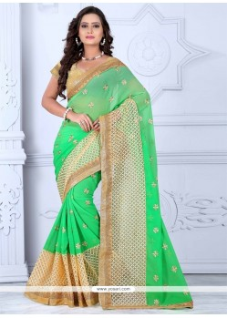 Fantastic Green Designer Saree