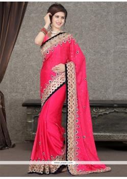 Glossy Embroidered Work Designer Saree