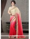 Excellent Faux Chiffon Resham Work Designer Saree