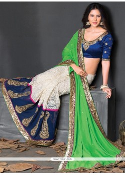 Intrinsic Net Resham Work Designer Saree