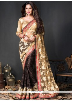 Tiptop Net Black Designer Saree