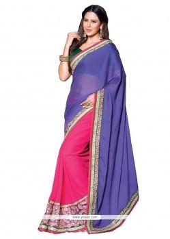 Staring Resham Work Designer Saree