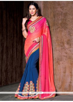 Exotic Lace Work Designer Saree