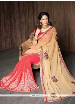 Mesmerizing Resham Work Georgette Designer Saree