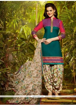 Fascinating Cotton Designer Patila Salwar Suit