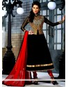 Charismatic Black Georgette Anarkali Suit