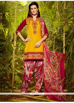 Exotic Cotton Designer Patila Salwar Suit