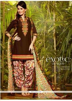 Glossy Cotton Designer Patiala Salwar Kameez