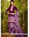 Fetching Lace Work Cotton Designer Patila Salwar Suit