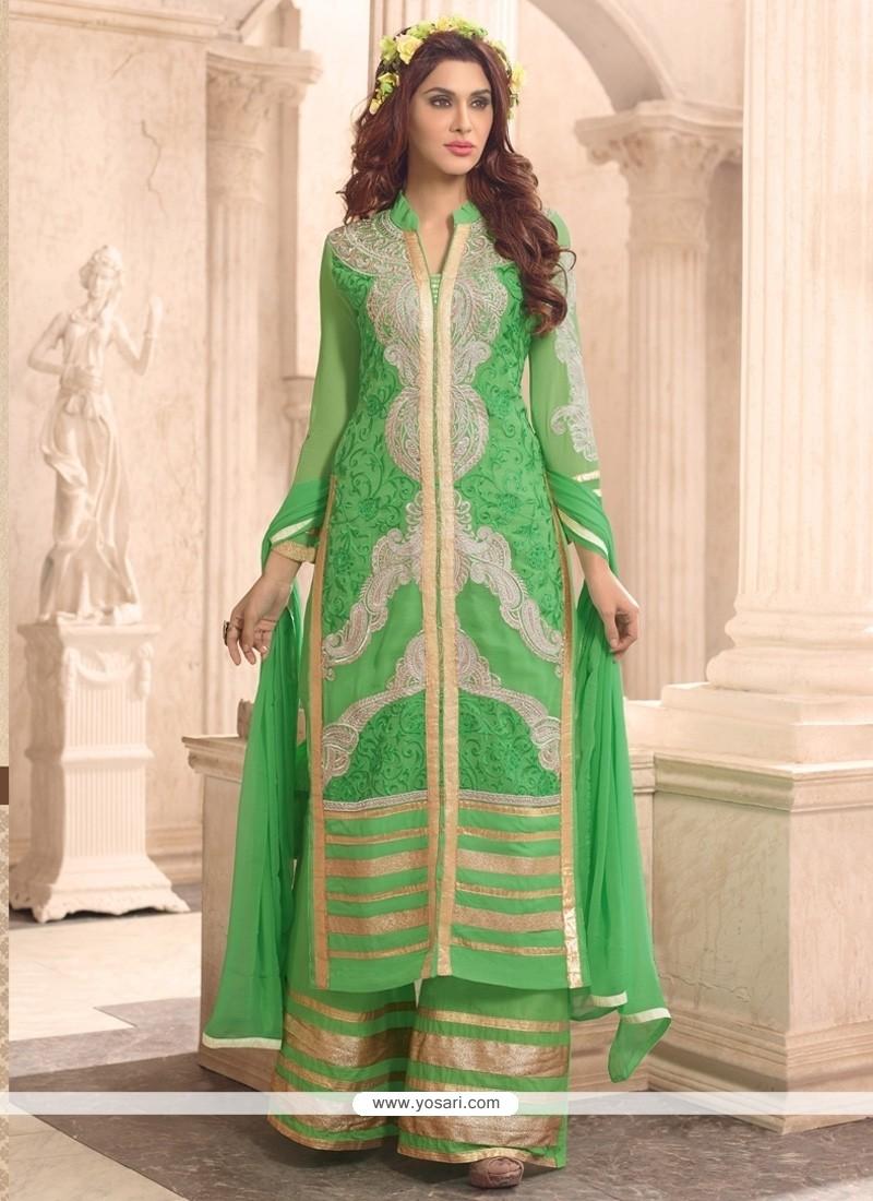 Prodigious Green Designer Suit