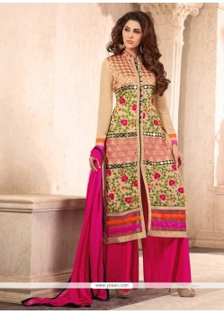 Catchy Faux Georgette Designer Suit