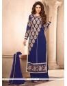 Jazzy Faux Georgette Blue Designer Suit