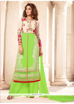 Enthralling Green Designer Suit