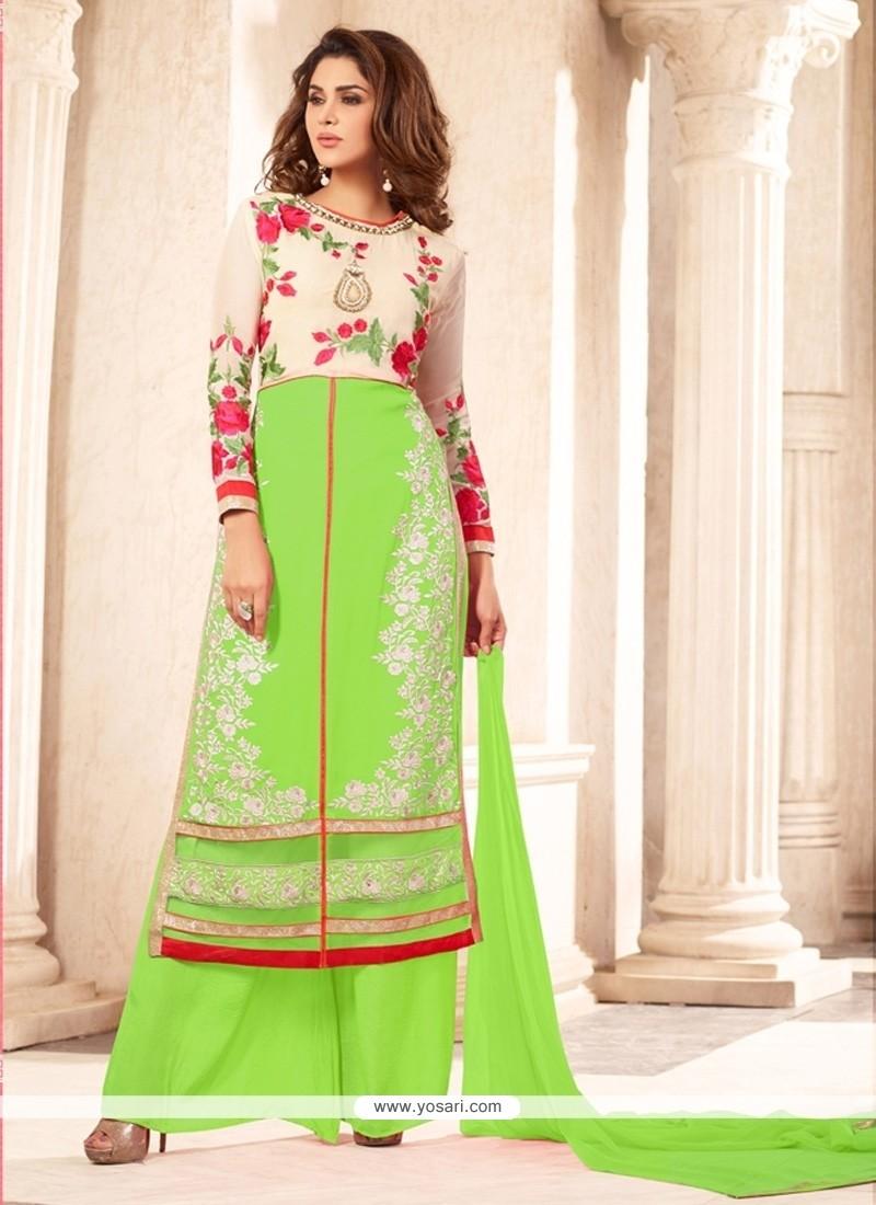 Enthralling Green Designer Suit