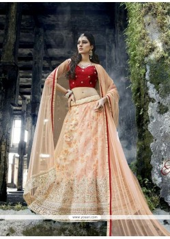 Glorious Patch Border Work A Line Lehenga Choli
